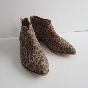 Aldo Leather Leopard Print Booties